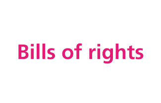 The 7 bills of rights drafted by the Youth Forum and presented to relevant decision makers.